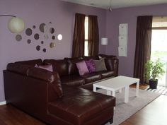 Purple And Brown Living Room Ideas