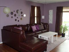 Ikea Brown/Purple Retro Living Room