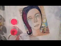 how to make a cardboard canvas by Alma Stoller