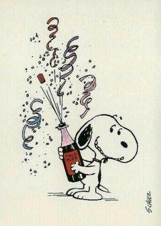Silvester - Snoopy & Co. Snoopy Feliz, Snoopy Und Woodstock, Snoopy Christmas, Christmas Humor, Christmas Christmas, Snoopy Happy New Year, Disney Happy New Year, Happy New Year Funny, Happy New Year 2020