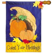 Count Your Blessings Flag, Large....love this house flag for fall!