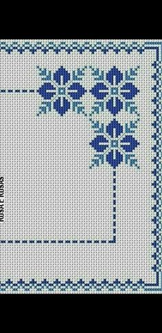 Discover recipes, home ideas, style inspiration and other ideas to try. Cross Stitch Borders, Cross Stitch Flowers, Cross Stitch Designs, Cross Stitch Patterns, Cross Stitches, Loom Patterns, Ribbon Embroidery, Cross Stitch Embroidery, Palestinian Embroidery