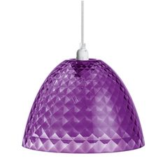 Hanging Lamp STELLA S TRANSPARENT PURPLE|from Homecolours.com