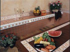 cores vivas na cozinha