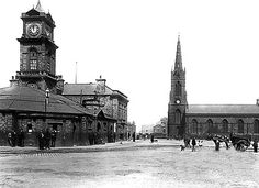 Old MIDDLESBROUGH, UK Railway station - Middlesbrough's first passenger station of any architectural pretension was the building which opened on 26 July 1847. It was an elegant design, by the Darlington architect John Middleton.