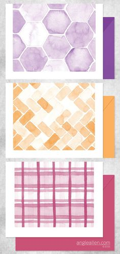 In love with these new watercolor patterns by Angie Allen - and she offers wedding packages too!