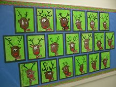 Reindeer Portraits How 2 Draw Artventurous Blo Just Set Up A Center With The Christmas Art Projectswinter