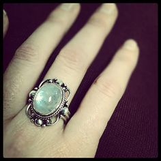 Oval Vintage Scroll Moonstone Ring   Eve's Addiction®