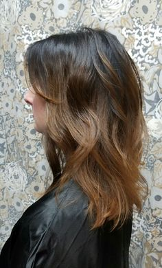 Brunette hygge hair by Shana Montgomery, owner of Fringe Theory Salon.