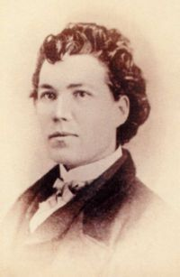 """Sarah Emma Edmonds as """"Franklin Thompson."""" She served as a man during the American Civil War. She received a government pension for military service, gained an honorable discharge, and was the only woman to be admitted to the Union Army veterans' organization."""