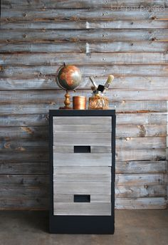 Check out how an old and ugly filing cabinet was turned into an amazing Pottery Barn Knock-Off!