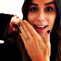 16 Engagement Ring Instagrams to Inspire Your Own via Brit + Co.