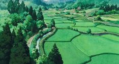 Screencap Gallery for Only Yesterday Bluray, Studio Ghibli). City Aesthetic, Aesthetic Anime, Ghibli Movies, Animation Background, Anime Scenery, Installation Art, Decoration, Aesthetic Wallpapers, Countryside