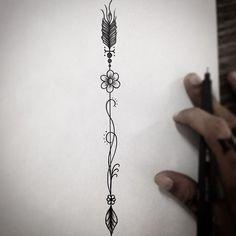 Flechinha de frente agora! Disponível p tatuar! #art #arte #tatuagemfeminina #tatuagem #tatt2 ...