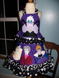 Disney Villains villainess CUSTOM boutique twirl set Ursula cruella Want so bad you have no idea! And i don't even wear dresses! Disney Aprons, Disney Dresses, Disney Outfits, Disney Clothes, Disney Fashion, Villains Party, Disney Villains, Disney Pixar, Disney Style