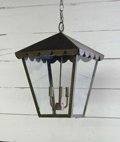 Precious! This little lantern with scalloped hood turned out amazing! What a warm welcome it creates!