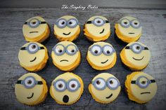 Minion Cupcakes by The Singhing Baker, Cape Town, South Africa. You'll find this Cake Appreciation Society Member in our Directory at www.cakeappreciationsociety.com