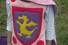 Girl's Dragon Knight Breastplate - Halloween Costume - Kid Costume