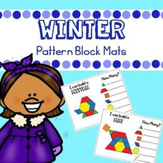 Winter Pattern Blocks Mats by Melissa Moran Activity Centers, Math Centers, Pirate Eye Patches, Team Teaching, Block Center, Autism Activities, Kindergarten Classroom, Pattern Blocks, Early Childhood