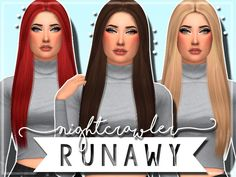 ----------------------------Nightcrawler Runaway Clayified-------------------------------  Found in TSR Category 'Sims 4 Female Hairstyles'