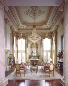 Home Design Drawings Drawing room - Room Setting Louis XV Luxury Homes Interior, Luxury Home Decor, Home Interior Design, Interior Plants, Classic Interior, Modern Interior, French Decor, Elegant Homes, Ceiling Design