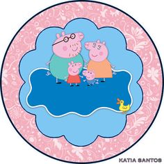 h Peppa Pig Printables, Aniversario Peppa Pig, Decorative Plates, Miniatures, Birthday, Party, Brenda, Html, Disney