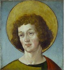 Kopf eines männlichen Heiligen