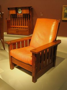 Adjustable-Back Chair No. 2342, 1902. American Craftsman Style  // by Gustav Stickley