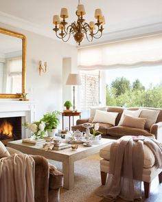 Casual and elegant living room