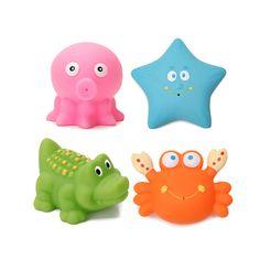 Melon 4pcs Baby Child Bath Animal Toy Set Swimming Spray Tool