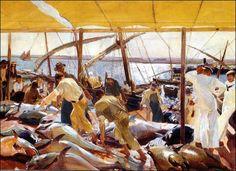Ayamonte: la pesca del atún, Joaquim Sorolla (1919)