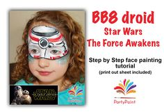 Face painting idea for Star Wars party with tutorial. COOL
