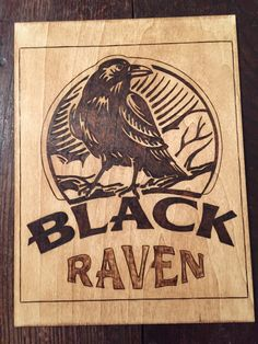 Raven on poplar Idea borrowed from Pinterest