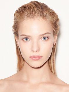 "runwayandbeauty: "" Sasha Luss - Beauty at Versace Spring 2015 Makeup And Beauty Blog, Hair Beauty, Beauty Tips, Des Femmes D Gitanes, Slicked Back Hair, Model Face, Beauty Shoot, Jolie Photo, Woman Face"