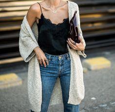 Time for Fashion » Stylish Combinations: Slip Top + Cardigan
