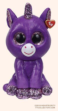 TY Beanie Boos 2 inch Mini Boo Figures Series 3 AMETHYST the Purple Unicorn