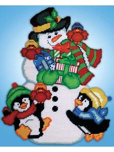 Snowman & Friends Plastic Canvas Kit
