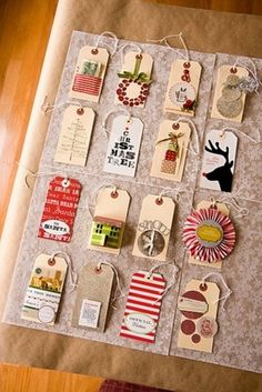 Holiday cards turned gift tags. Photo from Pinterest