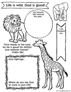 These Roar VBS printable activity sheets are a fun (and frugal) activity! Safari Crafts, Jungle Crafts, Vbs Crafts, Camping Crafts, Stick Crafts, Animal Activities, Bible Activities, Church Activities, Bible School Crafts