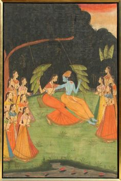 Indian Painting on Linen