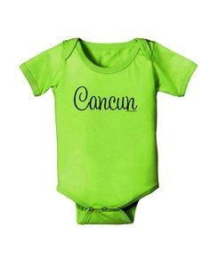 TooLoud Cancun Mexico - Script Text Baby Romper Bodysuit