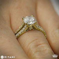 Ritani Classic Split Shank Diamond Engagement Ring   2238