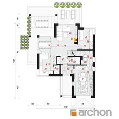 Dom w telimach (G) House Extension Design, Extension Designs, House Front Design, Beautiful House Plans, Beautiful Homes, House Extensions, Construction, Planer, Floor Plans