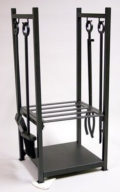 $98.75 (CLICK IMAGE TWICE FOR UPDATED PRICING AND INFO)   Uniflame Black Wrought Iron Log Rack with Tools. See More Fire Wood Racks at http://www.zbuys.com/level.php?node=3936=firewood-racks