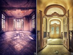 As German photographer Sven Fennema captures dilapidated castles, abandoned palaces and decayed churches, I can't help but wonder how these once impressive buildings have come to be forgotten. Whatever fate lies ahead for these spaces, it's nice to see that their beauty will forever be restored through Sven's photographs.