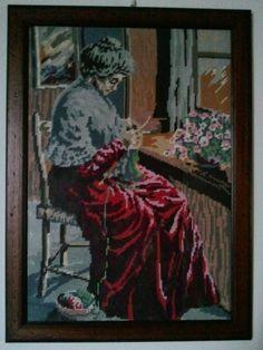 hobby e passioni racchiusi nel mio cassetto: Mezzopunto su canovaccio - Needlepoint on...