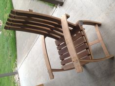 Chair made from an old wine barrel!!
