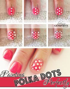 Painting Polka Dots Perfectly by Being Genevieve.