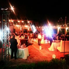 Outdoor wedding reception by Exquisite Affaires - Weddings & Events www.exquisiteaffaires.com