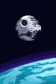 8 bits are enough Pixel Art Gif, How To Pixel Art, Cool Pixel Art, Cool Art, Star Wars Film, Star Wars Art, Pixel Art Background, Modele Pixel Art, Pixel Animation